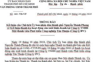 Xử lý hàng loạt sai phạm ở Công ty Phát triển CN Tân Thuận