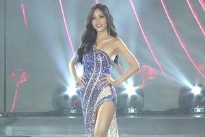 Á hậu Phương Nga diện đầm xẻ gợi cảm ở đêm thi bán kết Miss Grand