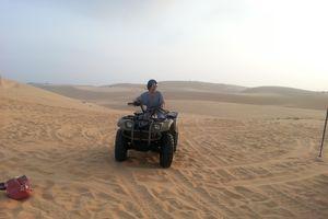 Nguy hiểm xe địa hình bốn bánh trên đồi cát