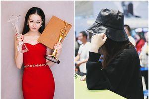 Địch Lệ Nhiệt Ba khóc ở sân bay sau chiến thắng thị phi ở Kim Ưng