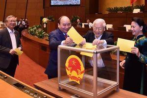 Quốc hội hoàn tất bỏ phiếu kín bầu Chủ tịch nước