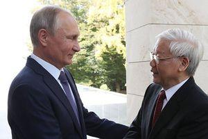Tổng thống Putin chúc mừng tân Chủ tịch nước Nguyễn Phú Trọng