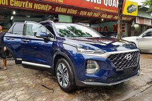 Hyundai SantaFe 2019 bất ngờ lộ diện trên đường phố Hà Nội