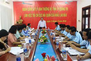 Lãnh đạo tỉnh Quảng Trị giám sát công tác thu thuế qua cửa khẩu Lao Bảo