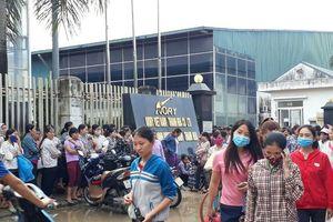 Hơn 3.000 công nhân công ty may ở Thanh Hóa đình công