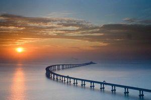 Chùm ảnh: Cây cầu vượt biển dài nhất thế giới của Trung Quốc