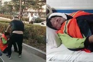 Clip: Bà lao công già bị cặp vợ chồng túm tóc, đánh nhập viện gây phẫn nộ