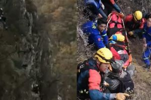 Bị ngã khi leo Vạn Lý Trường Thành, người phụ nữ lộn nhiều vòng xuống vách đá dựng đứng