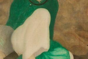'Thiếu nữ cầm quạt' của cố họa sĩ Nam Sơn được bán với giá kỷ lục