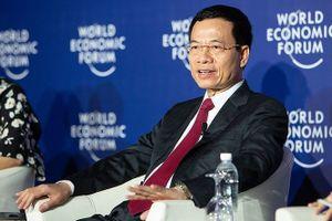 Bộ trưởng Nguyễn Mạnh Hùng phát biểu bằng tiếng Anh ở WEF ASEAN 2018