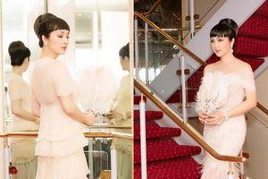 HH Giáng My đẹp tựa nữ thần 'đốn tim' khán giả khi đi chấm thi Hoa hậu