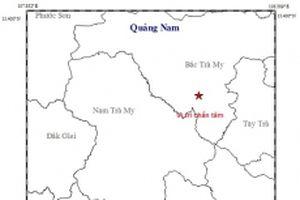 Lại động đất tại miền núi Quảng Nam