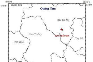 Động đất 2,7 độ richter ở Bắc Trà My