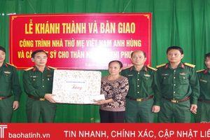 Bàn giao nhà thờ Mẹ VNAH và các liệt sỹ ở TP Hà Tĩnh