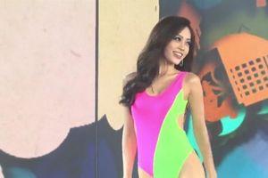 Clip Phương Nga trình diễn trang phục áo tắm và dạ hội tại bán kết Miss Grand International
