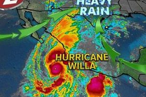 Bão Willa mạnh cấp 3 đổ bộ vào Mexico