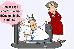 Tối cười: Vợ 'đứng hình' trước phát minh mới của chồng