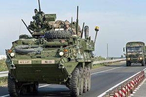 Xe quân sự Mỹ đâm nhau trong cuộc tập trận của NATO