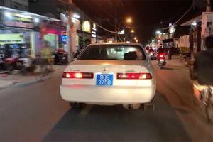 Cục CSGT lên tiếng về xe biển xanh 80B hụ còi, chạy bạt mạng trên phố