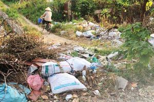 Hà Nội: Khu đô thị kiểu mẫu Linh Đàm ngập tràn trong phế thải xây dựng