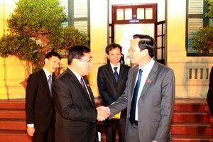 Bộ trưởng Đào Ngọc Dung tiếp Bộ trưởng Phúc lợi Xã hội Cứu trợ và Tái định cư Myanmar
