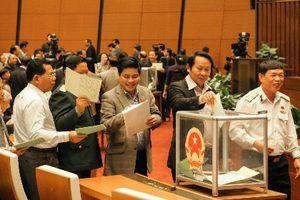 Chiều nay (24/10), Quốc hội bắt đầu lấy phiếu tín nhiệm