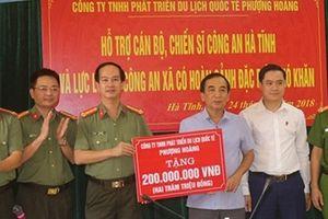 Công ty Phượng Hoàng hỗ trợ quỹ nghĩa tình đồng đội Công an tỉnh Hà Tĩnh