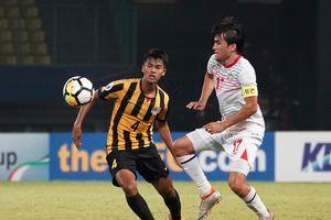 U19 Malaysia chia điểm với U19 Tajikistan trong trận cầu bạo lực