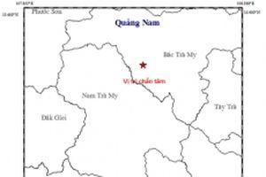 Lại xuất hiện động đất tại khu vực Thủy điện Sông Tranh 2
