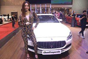 Hà Hồ đọ dáng cùng dàn người đẹp và xe sang Maserati