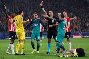 Đội trưởng bị đuổi, Tottenham lâm nguy ở Champions League