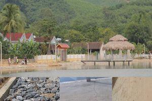 Công trình gia cố đập Cây Chanh (Nghệ An): Ngày thi công đầu tiên đã có vết nứt