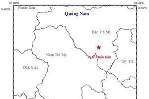 Quảng Nam: Xảy ra động đất 2,7 độ richter tại huyện Bắc Trà My