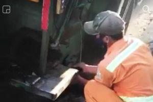 Đà Nẵng: Tiến hành kỷ luật nam công nhân môi trường lén xả nước bẩn xuống cống ở khu phố Tây
