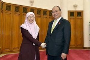 Thủ tướng Nguyễn Xuân Phúc tiếp Phó Thủ tướng Ma-lai-xi-a