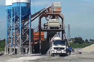 Vụ trạm trộn bê tông trên đất nông nghiệp gây ô nhiễm môi trường: Mức phạt nào cho Công ty TNHH Việt Anh?