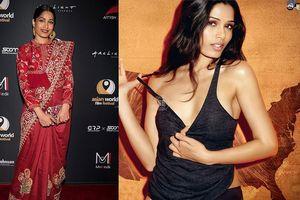 Mỹ nhân phim 'Triệu phú khu ổ chuột' rạng rỡ với trang phục Ấn Độ
