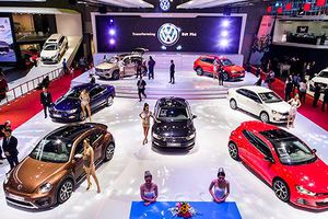 Volkswagen tung loạt xe sang giá rẻ, hút khách tại VMS 2018