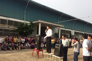 Bí thư huyện đối thoại, hơn 1000 công nhân đình công ở Thanh Hóa đã quay trở lại làm việc
