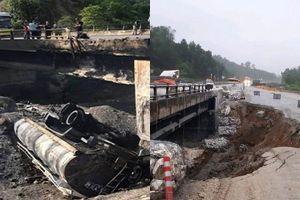 Cấm xe tải trọng lớn trên đường tạm cao tốc Nội Bài - Lào Cai đến bao giờ?