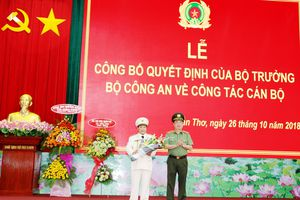 Đại tá Nguyễn Văn Thuận giữ chức vụ Giám đốc Công an TP.Cần Thơ