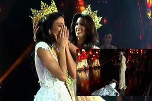 Người đẹp Paraguay ngất xỉu ngay khi vừa được xướng tên Hoa hậu Hòa bình Quốc tế