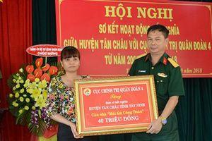 Sơ kết hoạt động kết nghĩa giữa Quân đoàn 4 và huyện Tân Châu