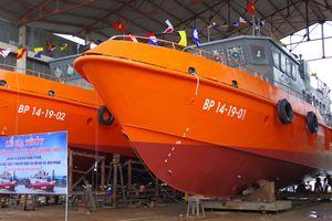 Hạ thủy hai tàu tuần tra kết hợp tìm kiếm cứu nạn