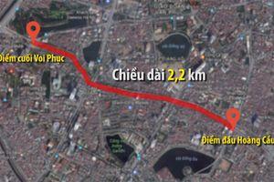 Hà Nội phê duyệt dự án làm đường Hoàng Cầu - Voi Phục 3 tỷ mỗi mét