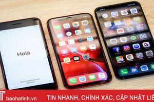 iPhone XR so dáng iPhone XS Max và 8 Plus
