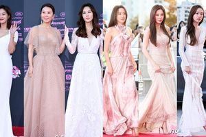 Seohyun, Kim Ah Joong khoe sắc cùng Kim Nam Joo và Kim Hee Ae trên thảm đỏ 'The Seoul Awards 2018'