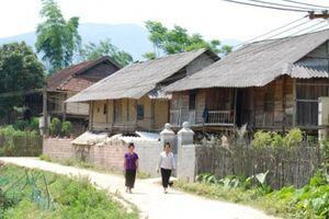 Thênh thang đường quê nông thôn mới Điện Biên