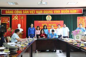 LĐLĐ tỉnh Tuyên Quang kí kết chương trình phối hợp hoạt động giai đoạn 2018 - 2023