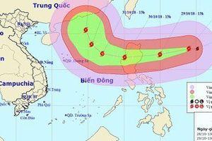 Xuất hiện siêu bão YUTU cấp 17 trên Biển Đông